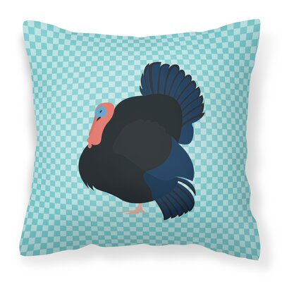 Norfolk Turkey Check Outdoor Throw Pillow Color: Blue