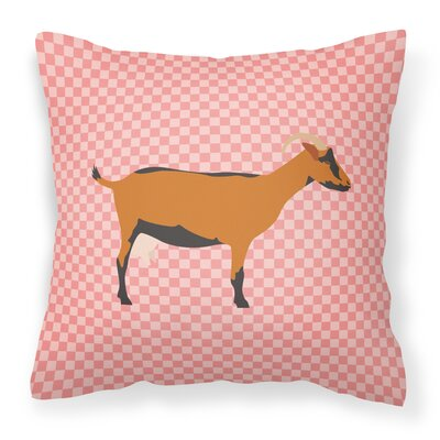 Goat Check Outdoor Throw Pillow Color: Pink