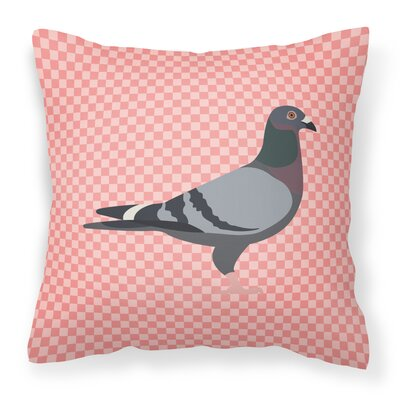 Eclectic Pigeon Check Fabric Outdoor Throw Pillow Color: Pink