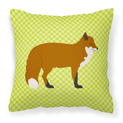 Fox Outdoor Throw Pillow Color: Green