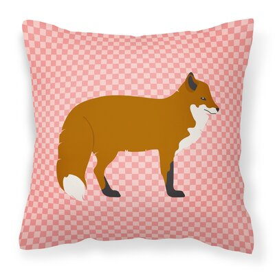 Fox Outdoor Throw Pillow Color: Pink