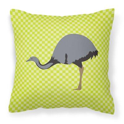Rhea Check Outdoor Throw Pillow Color: Green