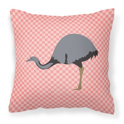 Rhea Check Outdoor Throw Pillow Color: Pink