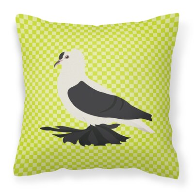 Eclectic Pigeon Check Outdoor Throw Pillow Color: Green