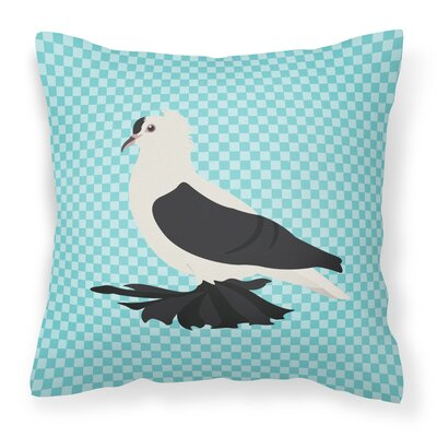 Eclectic Pigeon Check Outdoor Throw Pillow Color: Blue