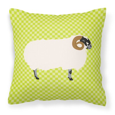 Blackface Sheep Outdoor Throw Pillow Color: Green