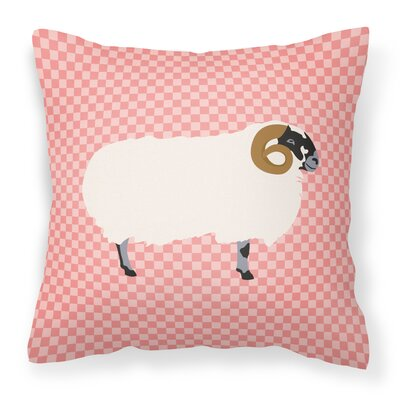 Blackface Sheep Outdoor Throw Pillow Color: Pink