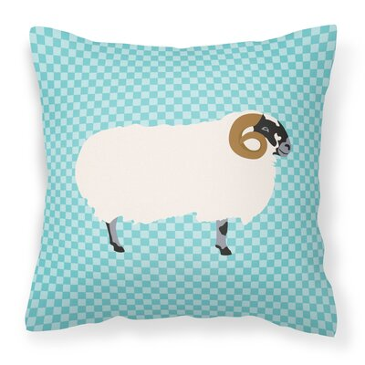 Blackface Sheep Outdoor Throw Pillow Color: Blue