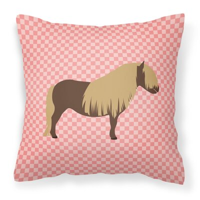 Pony Horse Outdoor Throw Pillow Color: Pink