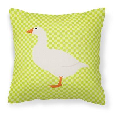 Horse Outdoor Throw Pillow Color: Green