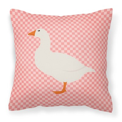 Horse Outdoor Throw Pillow Color: Pink