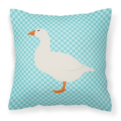Horse Outdoor Throw Pillow Color: Blue