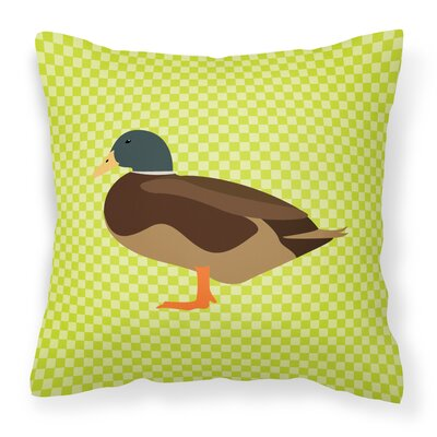 Bantam Duck Outdoor Throw Pillow Color: Green