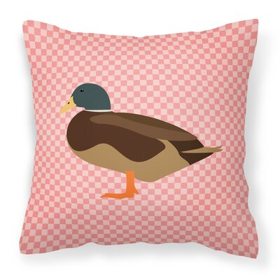 Bantam Duck Outdoor Throw Pillow Color: Pink