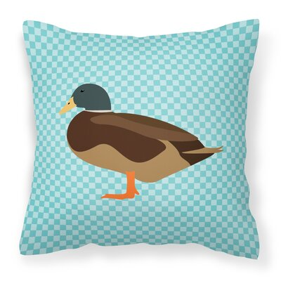 Bantam Duck Outdoor Throw Pillow Color: Blue