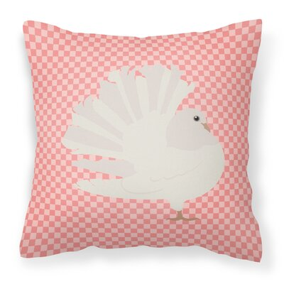 Fantail Pigeon Outdoor Throw Pillow Color: Pink