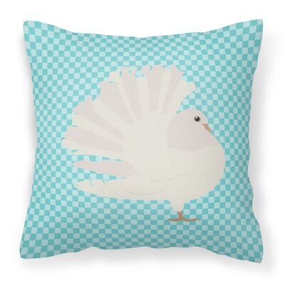 Fantail Pigeon Outdoor Throw Pillow Color: Blue
