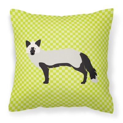 Fox Square Outdoor Throw Pillow Color: Green