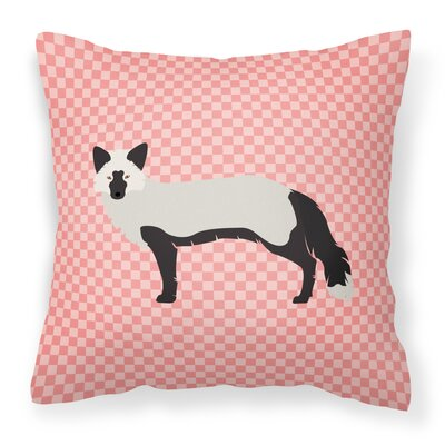 Fox Square Outdoor Throw Pillow Color: Pink