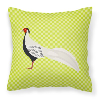 Pheasant Outdoor Throw Pillow Color: Green