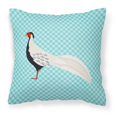 Pheasant Outdoor Throw Pillow Color: Blue