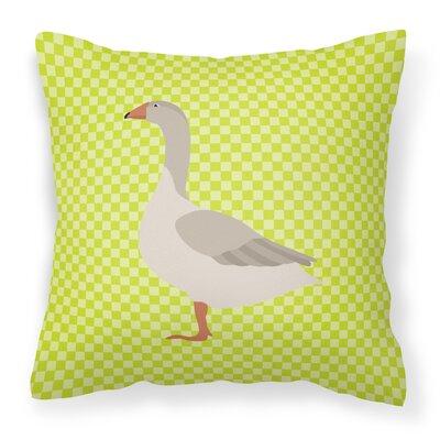 Goose Outdoor Throw Pillow Color: Green