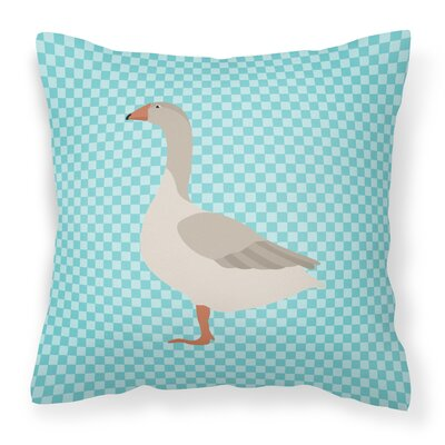 Goose Outdoor Throw Pillow Color: Blue