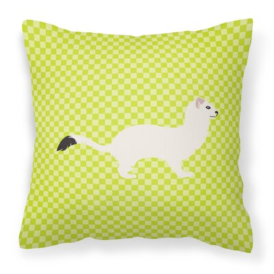 Stoat Short-Tailed Weasel Outdoor Throw Pillow Color: Green