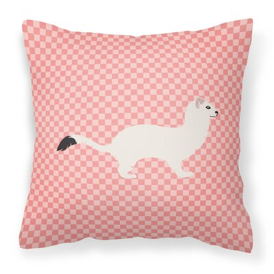 Stoat Short-Tailed Weasel Outdoor Throw Pillow Color: Pink