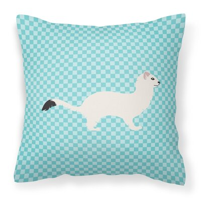 Stoat Short-Tailed Weasel Outdoor Throw Pillow Color: Blue