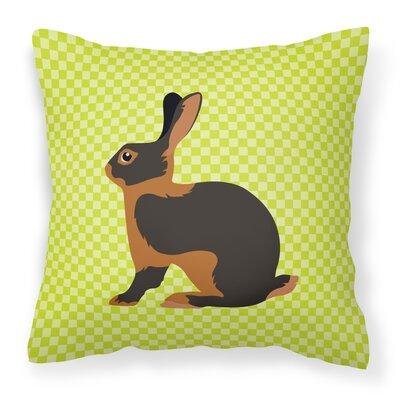 Rabbit Check Outdoor Throw Pillow Color: Green