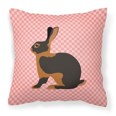 Rabbit Check Outdoor Throw Pillow Color: Pink