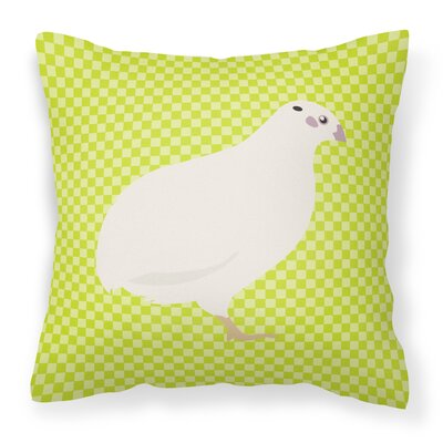 Quail Check Outdoor Throw Pillow Color: Green