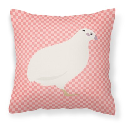 Quail Check Outdoor Throw Pillow Color: Pink