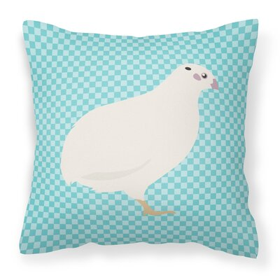 Quail Check Outdoor Throw Pillow Color: Blue