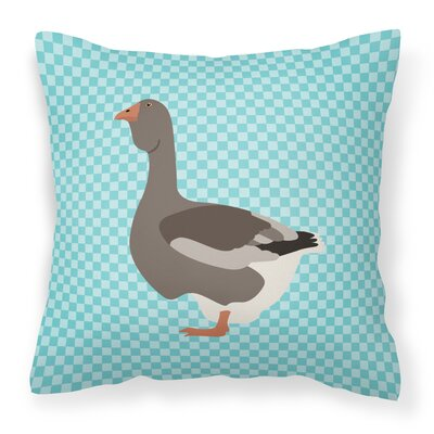 Goose Fabric Outdoor Throw Pillow Color: Blue
