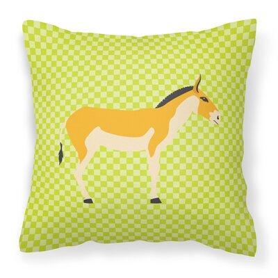Kulan Donkey Outdoor Throw Pillow Color: Green