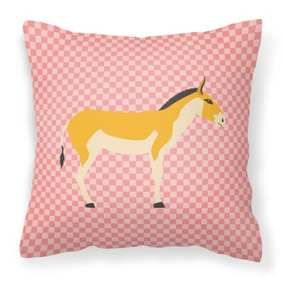 Kulan Donkey Outdoor Throw Pillow Color: Pink