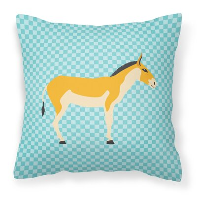 Kulan Donkey Outdoor Throw Pillow Color: Blue