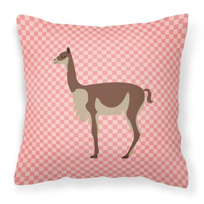 Vicugna or Vicuna Outdoor Throw Pillow Color: Pink