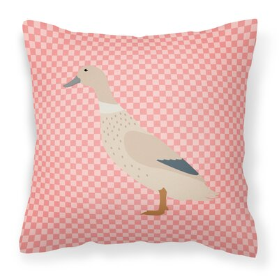 Duck Check Outdoor Throw Pillow Color: Pink