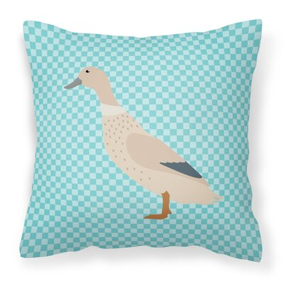 Duck Check Outdoor Throw Pillow Color: Blue