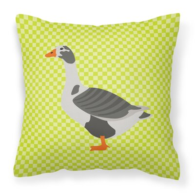 West of England Goose Check Outdoor Throw Pillow Color: Green