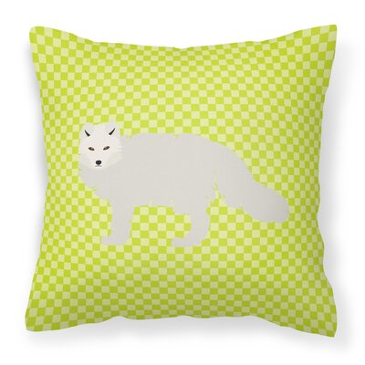 Arctic Fox Check Outdoor Throw Pillow Color: Green