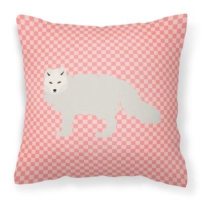 Arctic Fox Check Outdoor Throw Pillow Color: Pink