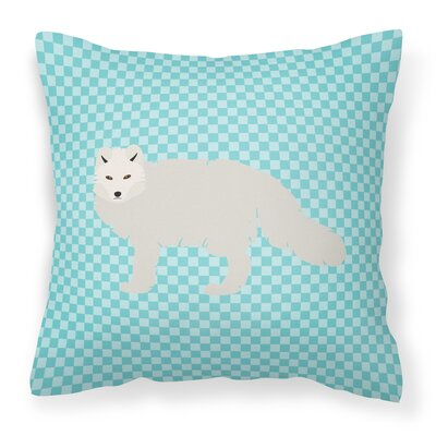 Arctic Fox Check Outdoor Throw Pillow Color: Blue