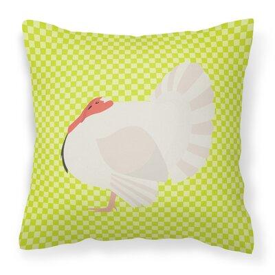 Turkey Check Outdoor Throw Pillow Color: Green