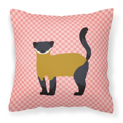Throated Marten Check Outdoor Throw Pillow Color: Pink
