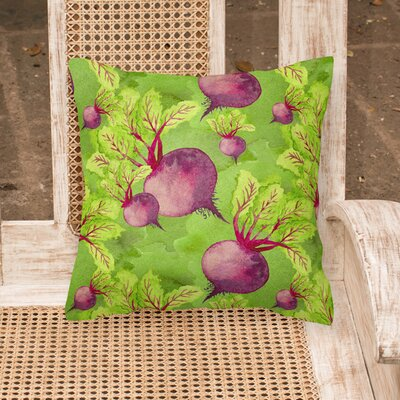 Gosling Raddishes Outdoor Throw Pillow