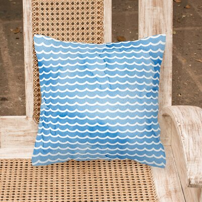Miramar Beach Waves Outdoor Throw Pillow